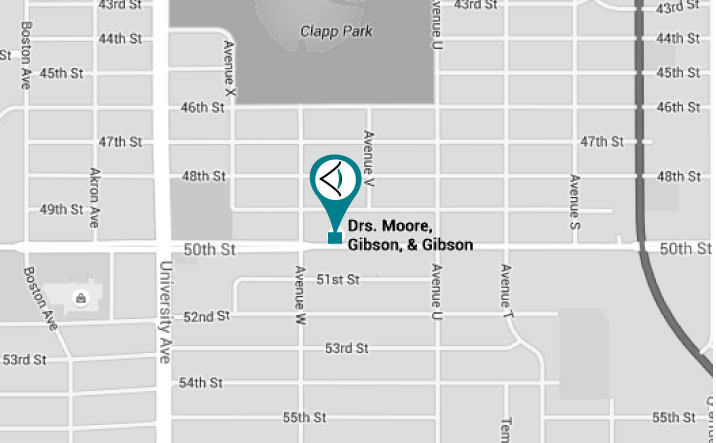 Drs. Gibson, Gibson & Moore Map